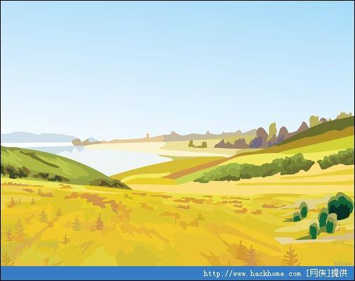 粗糙风格的水彩自然风景计算机壁纸[多图]