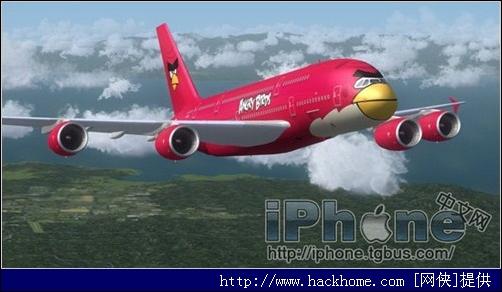 愤怒的小鸟登陆民航飞机