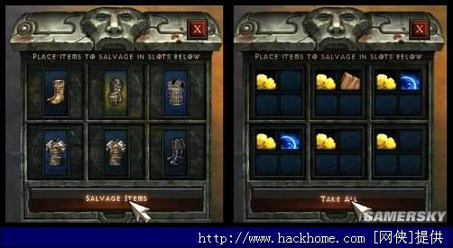 纳法勒姆之盒内部(左为分解前,右为分解后) 一旦激活,纳法勒姆之盒会立刻纳法勒姆之盒子里的所有装备为材料,并叠加出现在玩家的物品栏里。 分解的物品是否能复原尚未知晓,特别是在误操作的情况下。意外卖给工匠的物品可以买回,所以说不定也可能可以将旅途中回收的装备复原。当然也可能无法复原,有两个原因表明不太可能会复原: 由于每次分解出来的材料是随机的,玩家可能需要重复分解物品,以获得更好的分解结果。 即便某种物品分解出来的东西是一样的,那么玩家可以轻而易举地知道自己是要分解还是出售。 其他游戏中的先例 回收分解