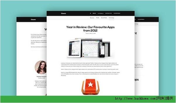 2013最新漂亮使用国外网站模板PSD合集下载[多图]图片2