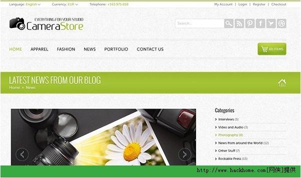 2013最新漂亮使用国外网站模板PSD合集下载[多图]图片12