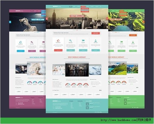 2013最新漂亮使用国外网站模板PSD合集下载[多图]图片15