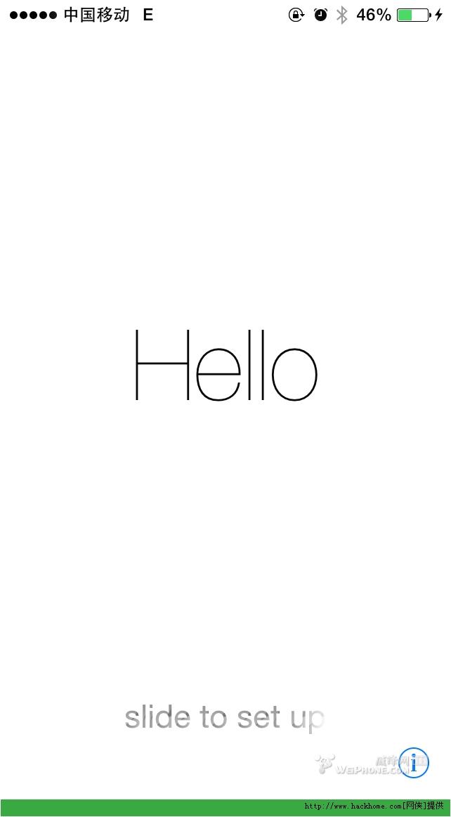 图标有点内个 呵呵    更新完是白底黑苹果 say hello    解锁界面也图片