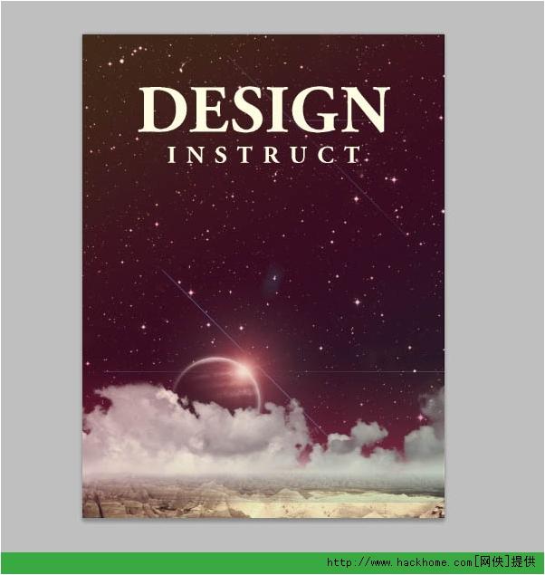 Photoshop制作大氣平面海報效果圖圖文教程