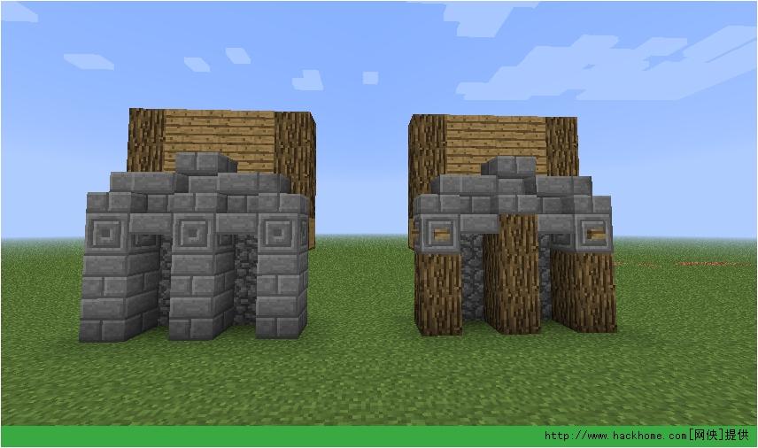 三、实际运用(地上一楼) 很多人想到地基应该就会觉得要用石材,其实不尽然,板上常看到许多建筑清一色都使用同一类型的建材,其实搭配不同的建材可以让建筑更有层次,因為主题是地基,所以关於建才方面不加以著墨,以后的文章中会再提到。 *以下皆以方型与内凹式方形做為范例,与其他形式的概念均相同。 那要怎麼搭配建材盖出有层次的地基呢?