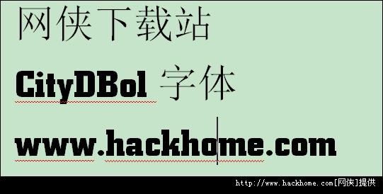 citydbol字体下载 citydbol字体 安装包 网侠软件下载站