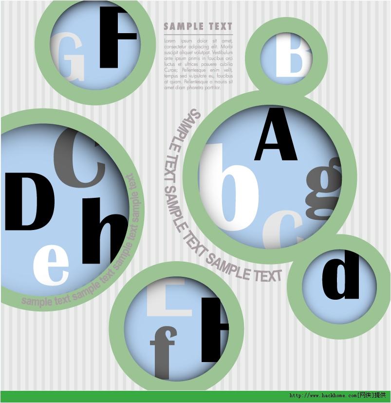 创意英文镂空设计矢量素材下载
