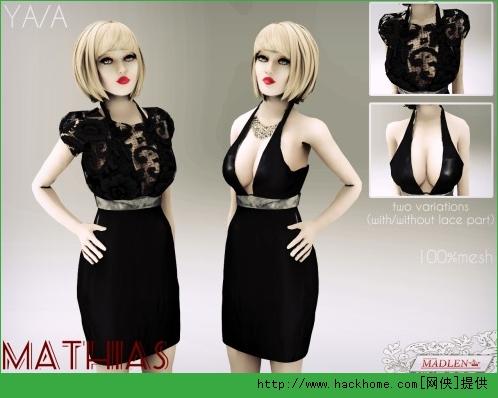 模拟人生4 女性性感黑色连衣裙MOD
