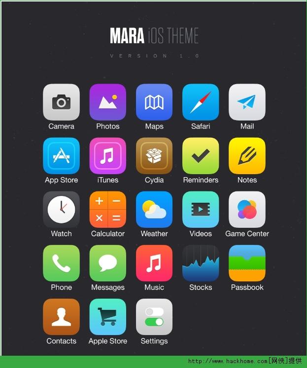 苹果手机ios7明亮主题