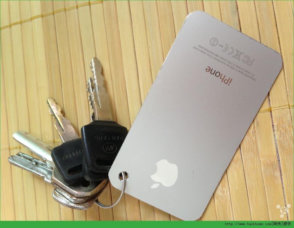 iPhone 5s后壳自制钥匙链挂饰图文分享[多图]