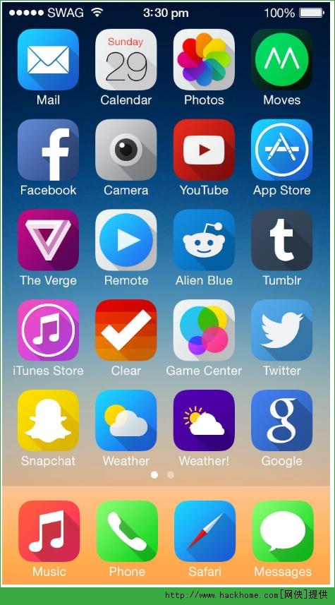 苹果手机ios7图标阴影主题