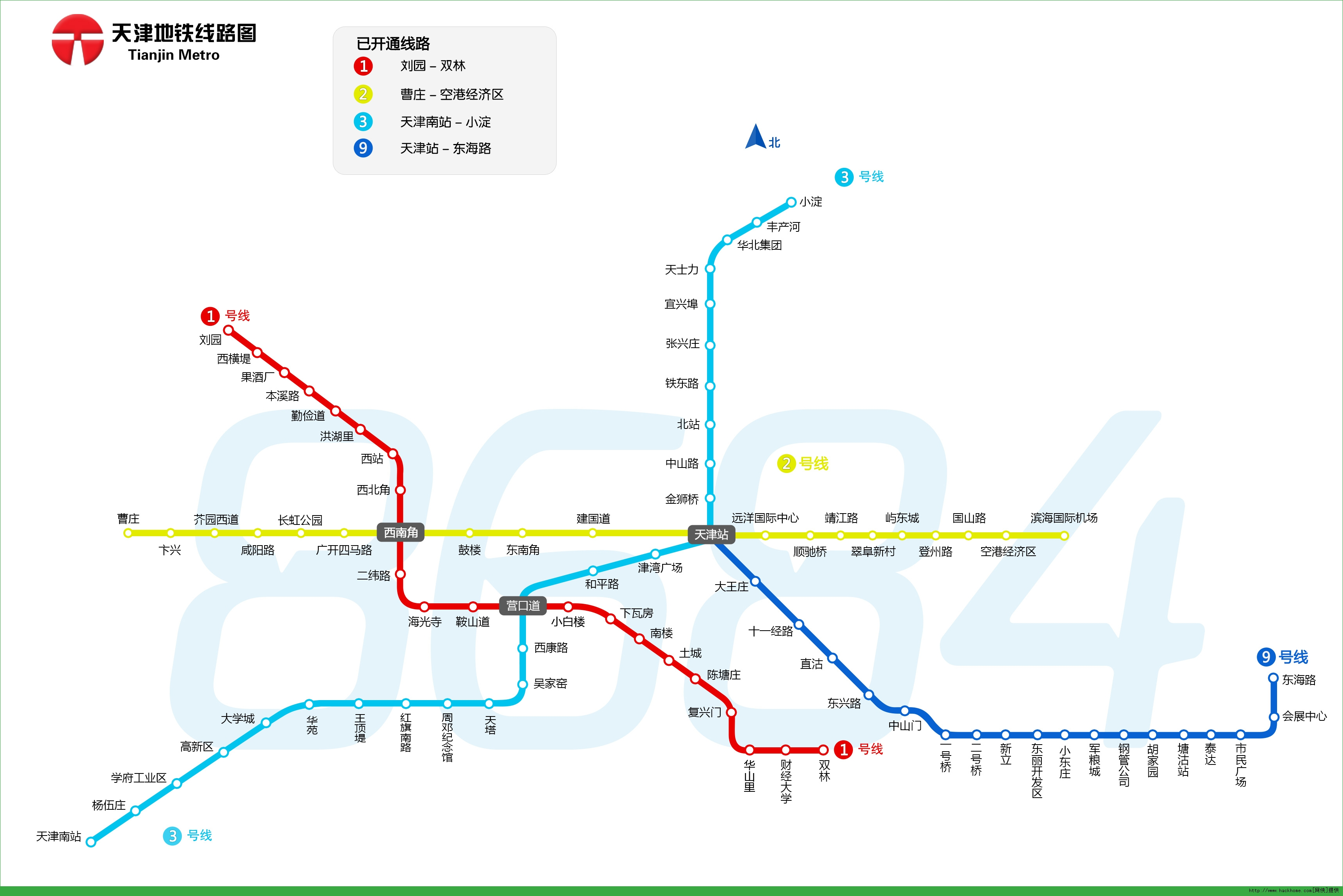 > 天津地铁线路图  天津地铁线路图:包含了已开通的天津轨道交通1号线