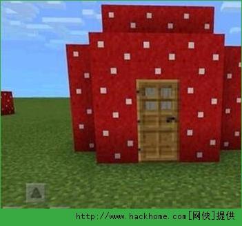 我的世界手机版红色蘑菇房子怎么做?
