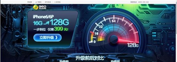 iPhone6/6plus如何升级128GB?360推iPhone换128g只要399元[多图]