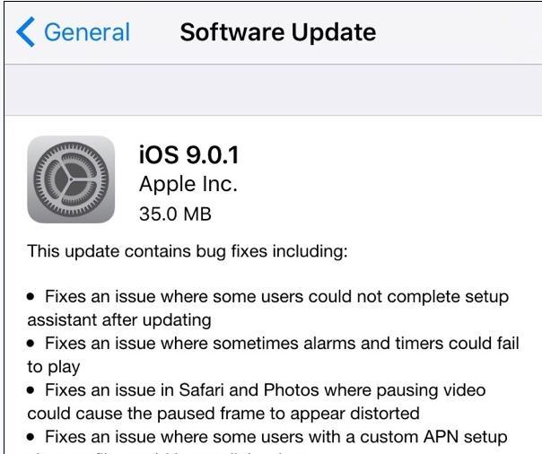 iPhone6S升级iOS9.0.1详细介绍[多图]