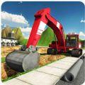 重型挖掘机起重机模拟器3D