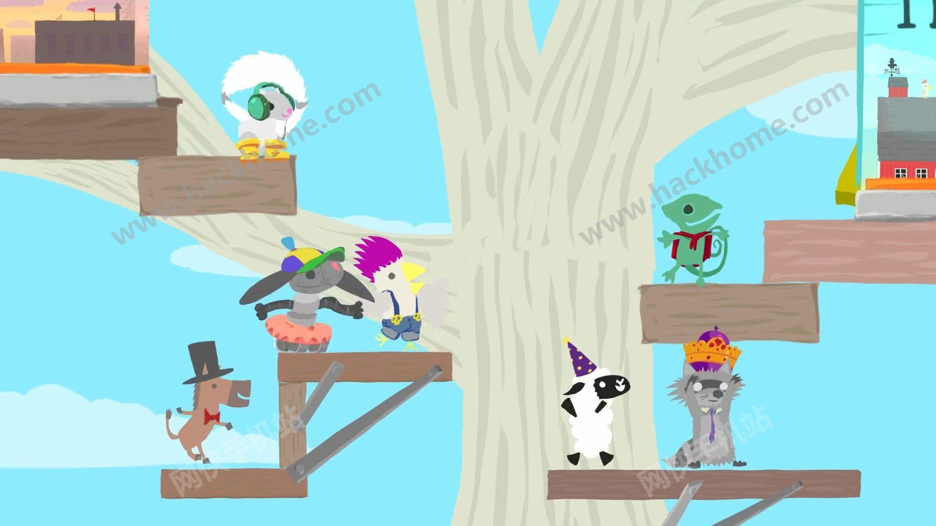 超级鸡马手机版安卓版下载(Ultimate Chicken Horse)图1: