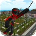 火柴人�K索英雄�o限金��荣�破解版(Stickman Rope Hero ) v3.0