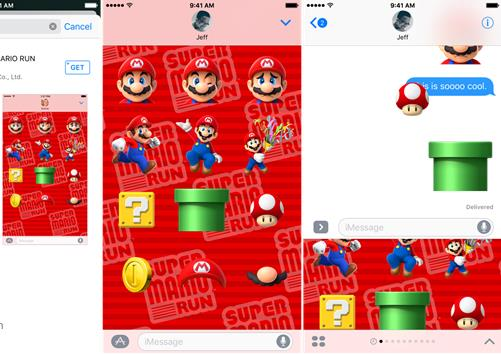 苹果iOS10全新表情包:超级马里奥表情包来袭[图]
