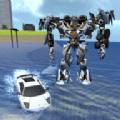 X变形机器人水下行动中文无限金币内购破解版(X Robot Car Shark Water) v1.3