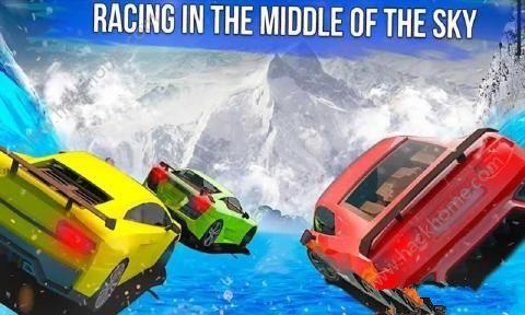 冰冻水滑道赛车中文无限金币破解版(Frozen Water Slide Race)图2: