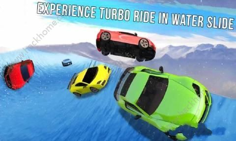 冰冻水滑道赛车游戏安卓版(Frozen Water Slide Race)图2: