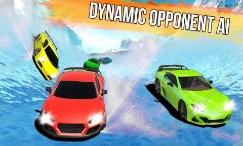 冰冻水滑道赛车中文无限金币破解版(Frozen Water Slide Race)图4: