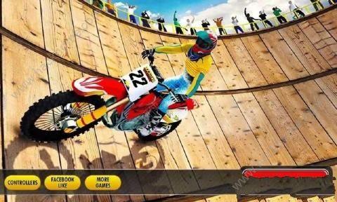 摩托车特技驱动器无限金币中文破解版(Well Of Death Bike Stunts)图1: