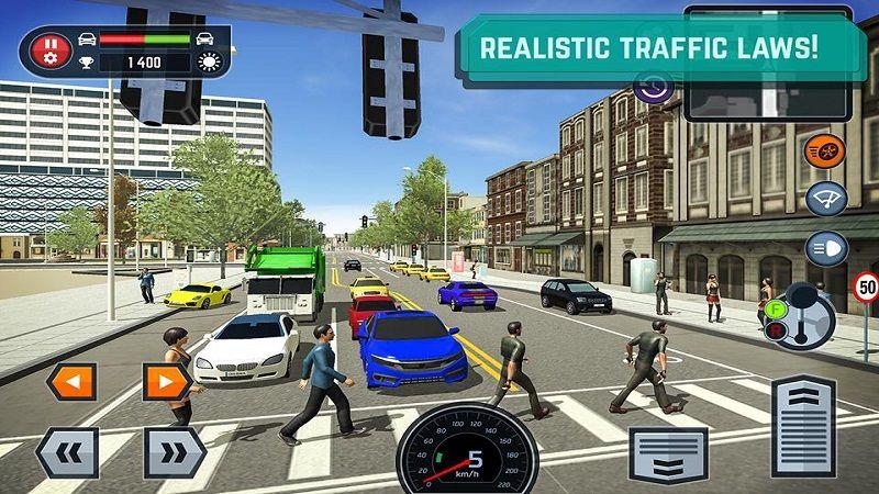 汽车驾驶学校模拟器游戏安卓版下载(Car Driving School Simulator)图1: