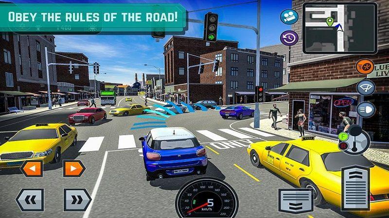 汽车驾驶学校模拟器游戏安卓版下载(Car Driving School Simulator)图3: