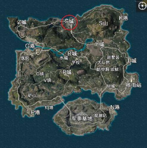 绝地求生全军出击S城攻略 S城资源分布图[多图]