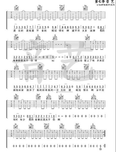 纸短情长钢琴简谱数字 抖音纸短情长钢琴谱图片[多图]