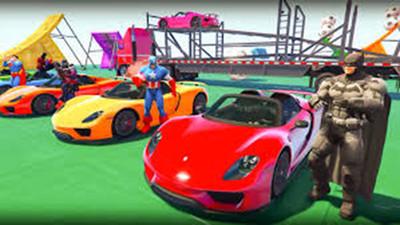 超级英雄赛车特技比赛游戏安卓最新版下载图4: