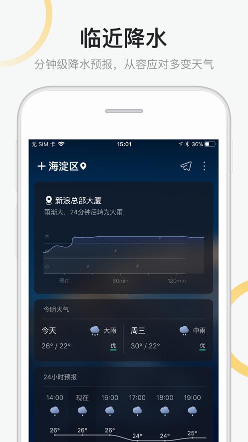 新浪天气app图1