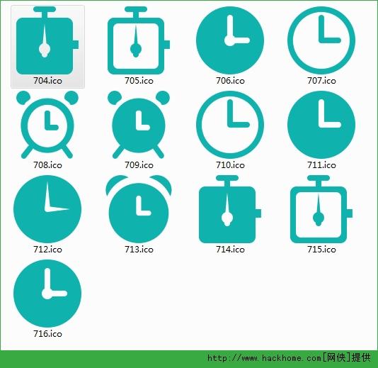 时钟系列图标素材 的界面预览