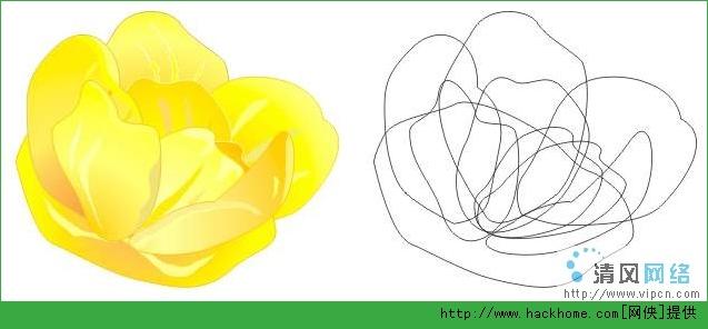 使用Coreldraw制作花朵