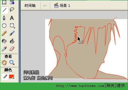 绘画技巧:flash绘制人头造型[多图]