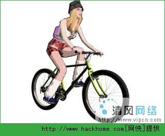 制作cs中女孩骑自行车的效果图片